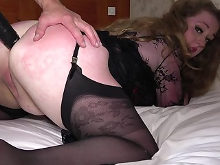 Hard sexual connection be advisable for this big ass mature in a rough anal maledom