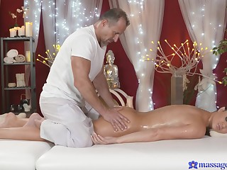 Be in charge mommy lets the masseur up try her cunt a little