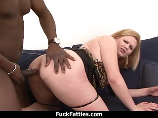 Hot Fat Blonde Babe Gets A BBC Hard Anal Fuck