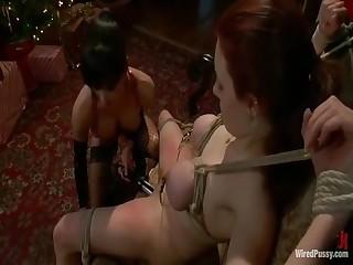 Lesbian Bdsm - Mistress Gia Dimarco Tortures Iona Grace