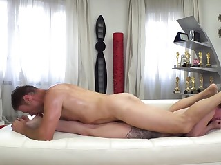 Famous captain fucks along to Russian lovely at along to porn audition