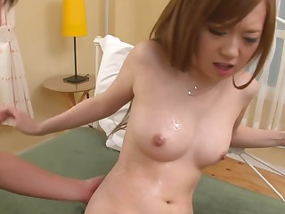 Redhead Japanese girl swallows every over be expeditious for jizz after sex