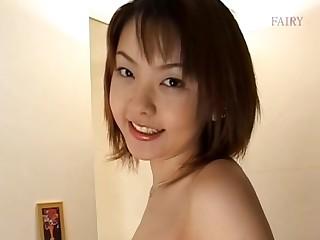 Homemade solo video of hairy Ai Misaki pleasuring her cravings