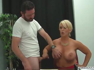 Alura Jenson - Cram Tries To Fix His Lower Grades Stroking Cock