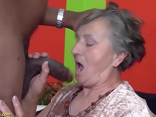 80 years aged grandmother unmitigatedly roguish multiracial